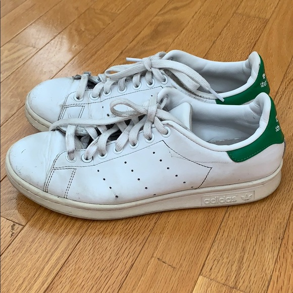 low priced 3952c b89b2 adidas white and green Stan Smith sneakers